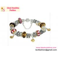 Hot sales Fashion Silver Plated European Glass Beads Charm Bracelets LOVE charm
