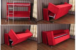 lit superpos transformable multifonctionnel de sofa de canap lit pour le petit appartement en. Black Bedroom Furniture Sets. Home Design Ideas