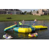 Inflatable Water Trampoline Combo For Lake, Water Trampoline With Slide