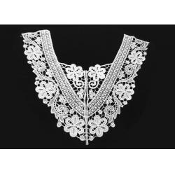 China Wedding Dress / Bridal Lace Appliques , White Ribbon Bridal Lace Trim 13 4/10 - 11 on sale