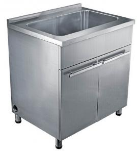 Customized Commercial Kitchen Single Bowl Stainless Steel