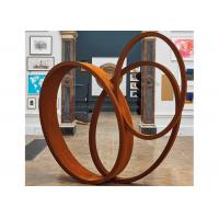 Large Art Craft Modern Ribbon Corten Steel Garden Sculpture Contemporary Metal Sculpture