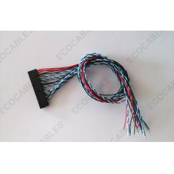 China 40 Pin LVDS Cable Pinout With Housing Connector For TV / DVD / VCD on sale