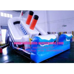 China Children / Adults Amusement Park Inflatable Titanic Slide Customized Logo OEM ODM on sale
