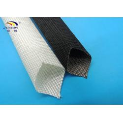 China Customized High Temperature Fiberglass Braided Insulation Sleeve Flame Retardant on sale