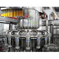 High Efficiency Hot Filling Machine 3-In-1 Monoblock For Fruit Juice / Beverage
