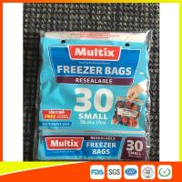 Microwave Safe Freezer Zip Lock Bags For Supermarket / Household Used