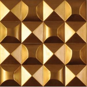 Gold Color 3d Decorative Wall Panel For Bar Ktv Decoration