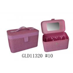 China Purple Fabric Jewelry Packaging Boxes Environmental Friendly With Logo / Mirror on sale
