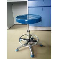 Adjustable Seat Science Lab Stools , Dental Laboratory Chairs With PU Leather Upholstery