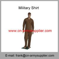 Wholesale Cheap China Military Brown Wool T/R Army Police Officer Shirt