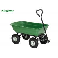 Family Heavy Duty Garden Cart , 50L Four Wheel Garden Trolley Wheelbarrow