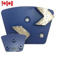 2 Arrow Segment Trapezoid metal bond diamond shoes with Screw backing