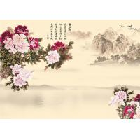 9Mm Thickness Advanced Technology Bamboo Wood Boards Peony And Poems Landscape