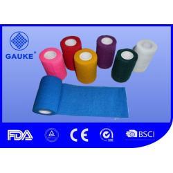 China Colorful Cotton Self Adhesive Elastic Bandage , Roll Gauze Bandage Tape Eco Friendly on sale