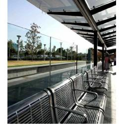 China Nano Coating Self Cleaning Glass Easy Cleaning For Bus Stop on sale