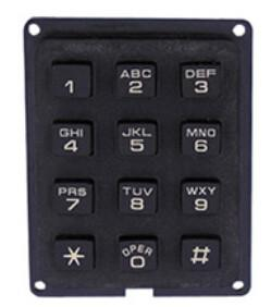 rugged economic plastic abs numeric keypad special customs layout with letters