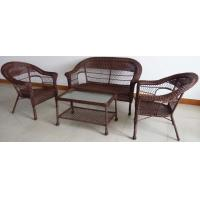 Classic Resin Outdoor Leisure Furniture with Cushion , Comfortable Wicker Patio Sofa Set