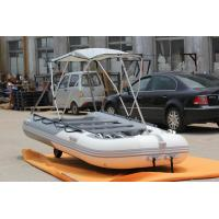 Wider Bow Inflatable Fishing Pontoon Boats , Small Pontoon Boats 380 Cm OEM Accepted
