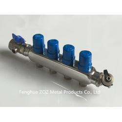 China Floor Heating Return Manifolds with Valves , Radiant Floor Heating Manifold For Pex Heating on sale