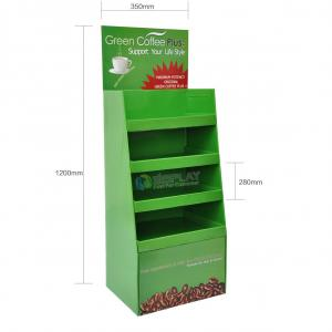 Pop Advertising Cardboard Display Stands , Cardboard Exhibition Stands For Coffee Bean