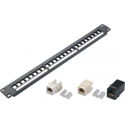 China RJ45 Metal Network Patch Panel CAT5E / CAT6 24 / 48 / 50 Port Customized on sale