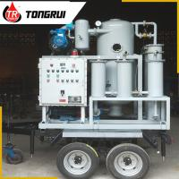 Small Waste Oil Treatment Plant , Double Stage Cable / Transformer Oil Treatment Machine
