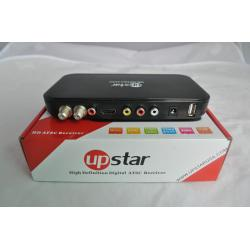 China Metal ATSC Digital Terrestrial Receiver Full HD 1080p Support 3D for USA Mexico Canada Korea on sale