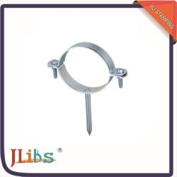China Cross Metal TubeBrackets Round Nail Clamp Cast Iron For Fixing Plastic Pipes on sale