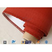 Electrical Insulation Red Silicone Coated Fiberglass Fabric Cloth 530 gsm