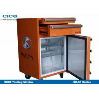 Silent Retro Looking Refrigerator , Blue Retro Fridge Freezer Eco - Friendly