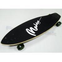 Black Cool China Maple Wood Skateboards for Kids / Children Skateboarding Decks