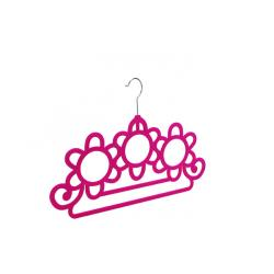 China ABS plastic Pink  velvet flocked stylish design non-slip space saver multifunctional scarf& towel hanger on sale