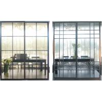 Partition Aluminum Sliding Doors For Living Room, Durable Laminated Glass Room Divider