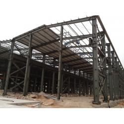 China Building House Steel Frame , Workshop And Office Construction Steel Frame on sale
