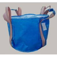 Two loop blue Circular FIBC bag with 4 lifting UV treated for transportation