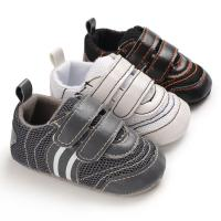 Hot sale PU Leather soft bottom casual boyoutdoor sneaker mesh baby shoes