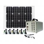 High Power Solar Home Lighting System / 3W Solar Powered LED Lights For Homes