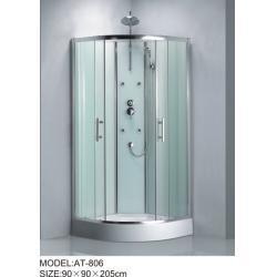 China Shiny chrome complete enclosed shower cubicles Aluminium Rails / Profiles tub shower enclosures on sale