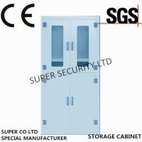 Laboratory Medicine Medical Supply Storage Cabinet With Double Glass Door for Security