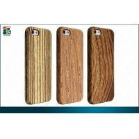 Custom Wooden Iphone 5 Protective Cases Anti-static Embossed Logo