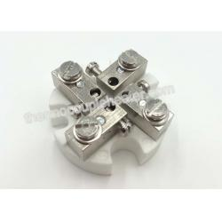 China Ceramic Terminal Block  D-4P-CS  For Industry Thermocouple Head Connection on sale