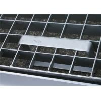 ISO9001 Pressure Locked Steel Grating Saddle Clip Fixed Integrated Type