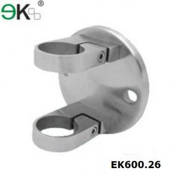 China Stainless steel fence post mounting brackets for round Post-EK600.26 on sale