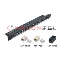 FTP UTP Blank Patch Panel , 24 Port Cat5e Patch Panel With Cable Manager