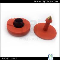 Red Non Removable UHF RFID Tags Two Pieces 860-960 Mhz Frequency