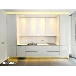 White lacquer kitchen cabinets white lacquer kitchen for Standard white kitchen cabinets