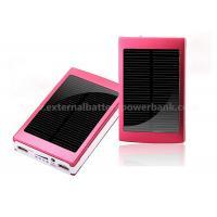 Aluminium Dual USB Solar Power Bank Mobile External Battery 10000mah