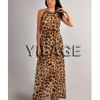 2014 Fashion Summer Dress Long Leopard Print Chiffon Boho Maxi Dress L1689
