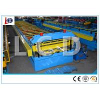 Post Cutting Metal Deck Roll Forming Machine Chain Driven SGS Certificated